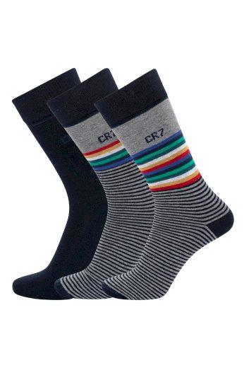 3PACK ponožky CR7 vícebarevné (8273-80-114) L