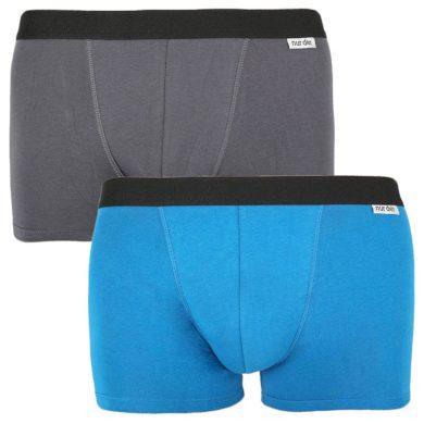 2PACK pánské boxerky Nur Der vícebarevné (827756 - grau/blau) L