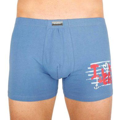 Pánské boxerky Andrie modré (PS 5294 B) M