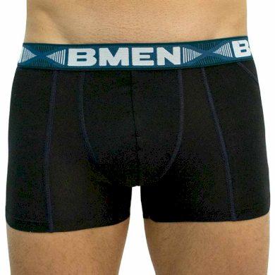 Pánské boxerky Bellinda černo/zelené (BU858208-094) XL