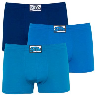 3PACK pánské boxerky Styx klasická guma modré (Q9676869) XL