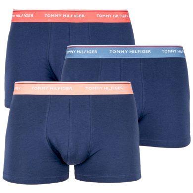 3PACK pánské boxerky Tommy Hilfiger tmavě modré (1U87903842 042) M