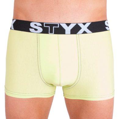 Pánské boxerky Styx sportovní guma nadrozměr zelenkavé (R4) 5XL