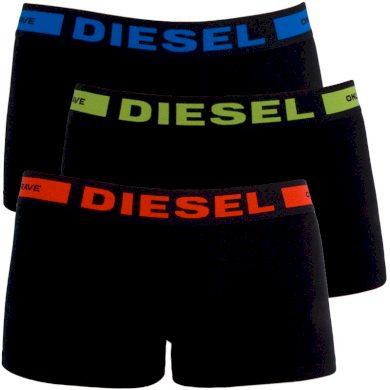 3PACK pánské boxerky Diesel černé (00CKY3-0BAOF-01) S
