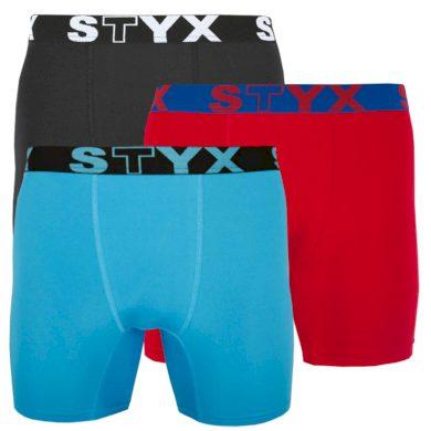 3PACK pánské funkční boxerky Styx vícebarevné (W9606569) XL
