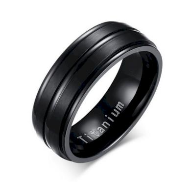 Černý prsten z kvalitního Titanu SR000078