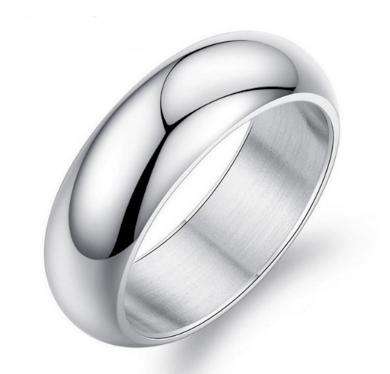 Prsten kroužek Classic II z chirurgické oceli- stříbrný SR000012