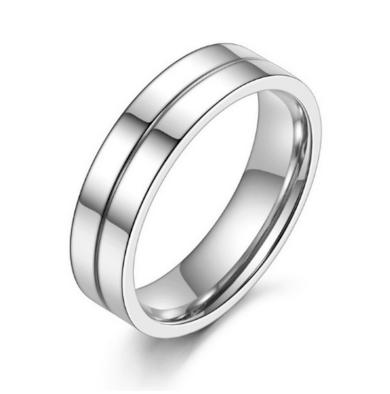 Prsten z leštěné chirurgické oceli stříbrný SR000030