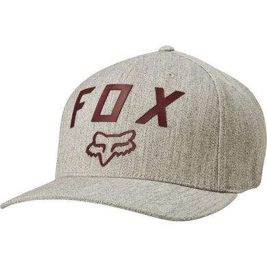 Pánská kšiltovka Fox Number 2 Flexfit Hat Heather Grey