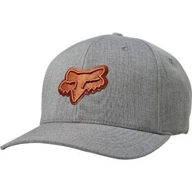 Pánská kšiltovka Fox Transposition Flexfit Hat Grey/Oragne