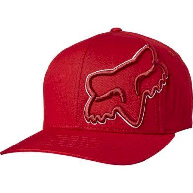 Pánská kšiltovka Fox Episcope Flexfit Hat Red/White