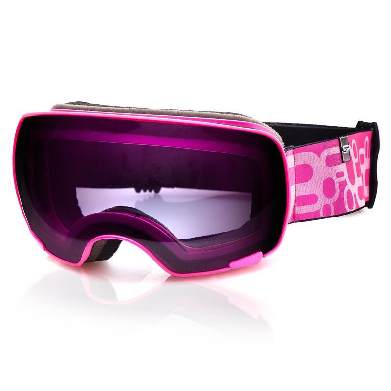 Spokey YOHO lyžařské brýle růžové