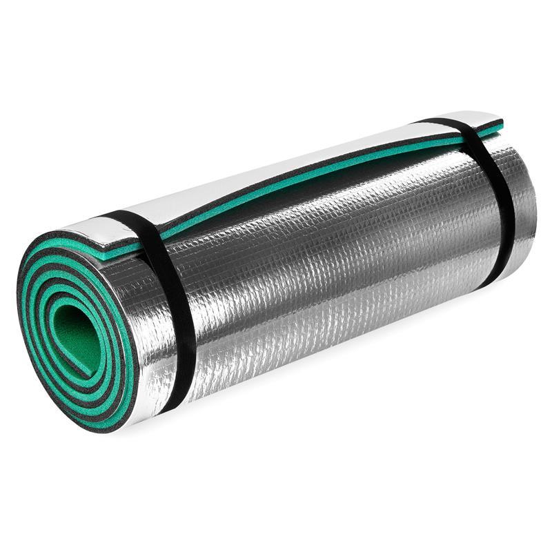 Spokey KODIAK Karimatka XPE / hliník, 180x50 cm, zelená