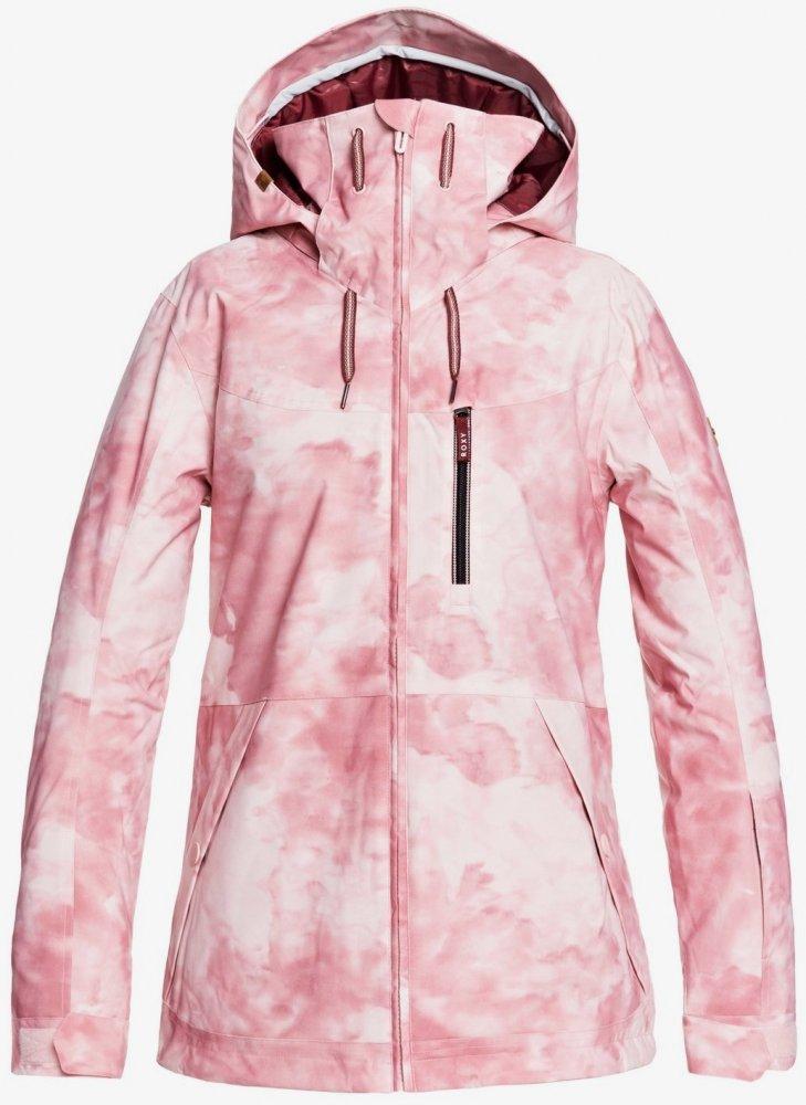 Bunda Roxy Presence Parka silver pink tie dye