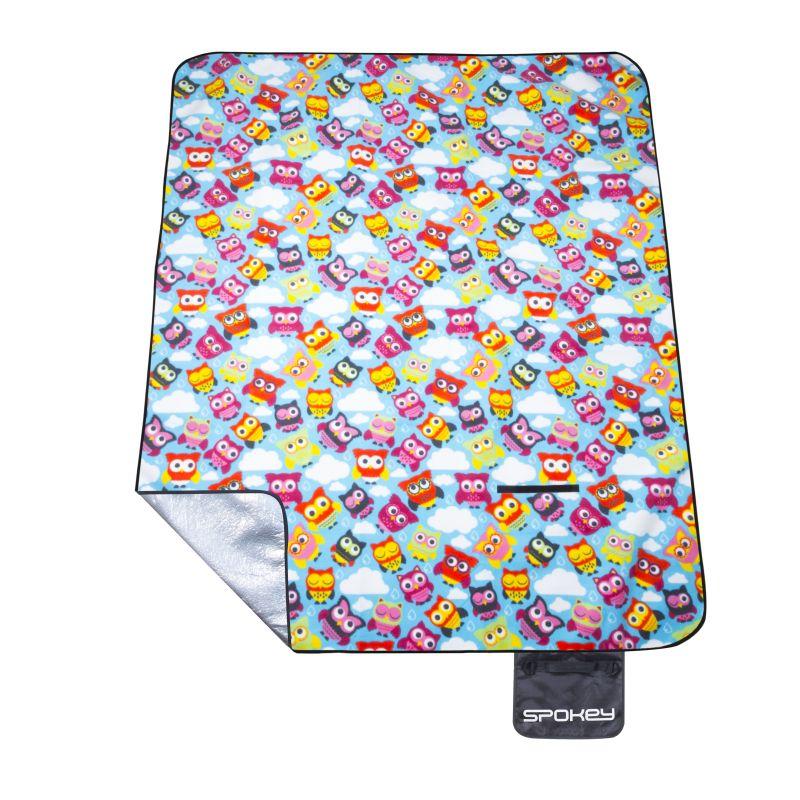 Spokey PICNIC OWL Pikniková deka s popruhem 180x210 cm