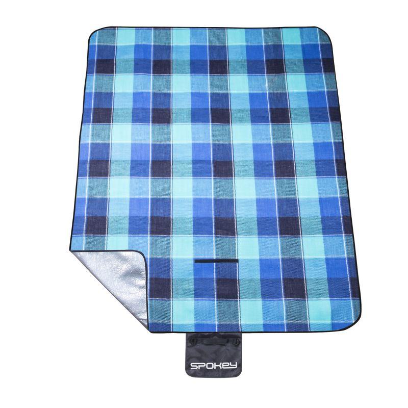Spokey PICNIC FLANNEL Pikniková deka s popruhem 150 x 180 cm akryl