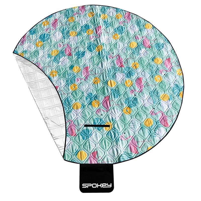 Spokey PICNIC FLAMINGO Pikniková deka kulatá, průměr 150 cm