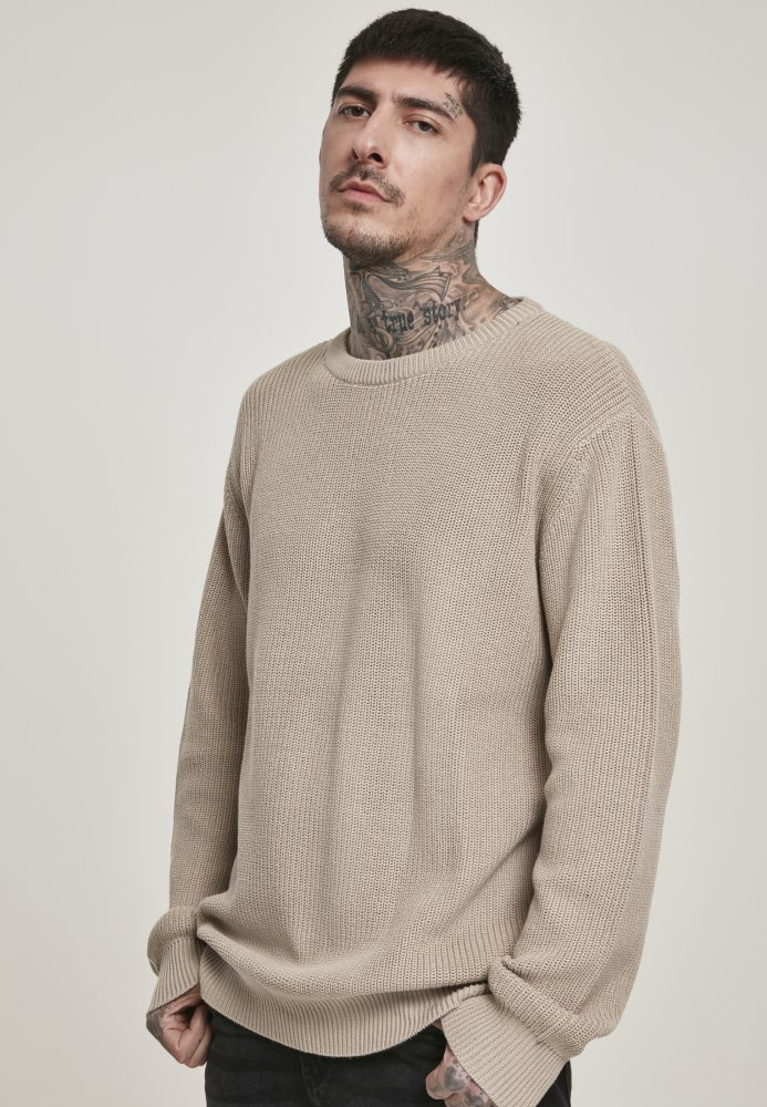 Cardigan Stitch Sweater - darksand