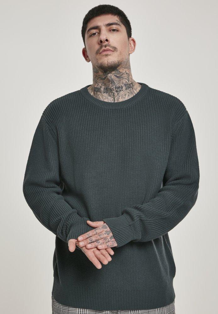 Cardigan Stitch Sweater - bottlegreen
