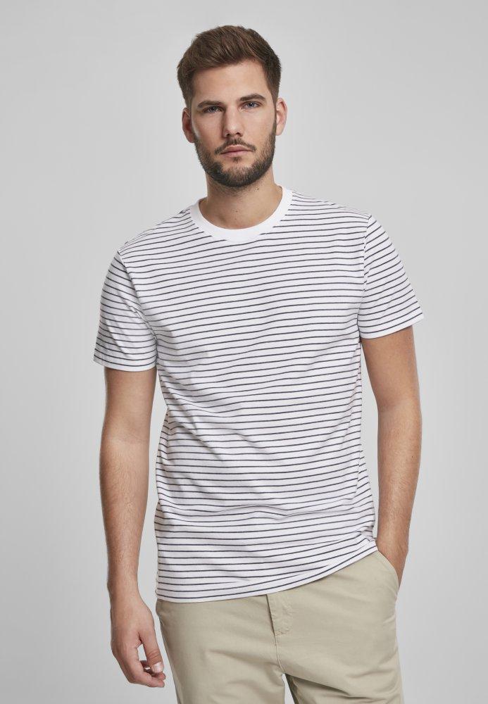 Basic Stripe Tee - white