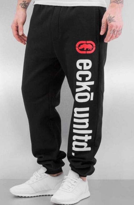 Tepláky Ecko Unltd. / Sweat Pant 2Face in black