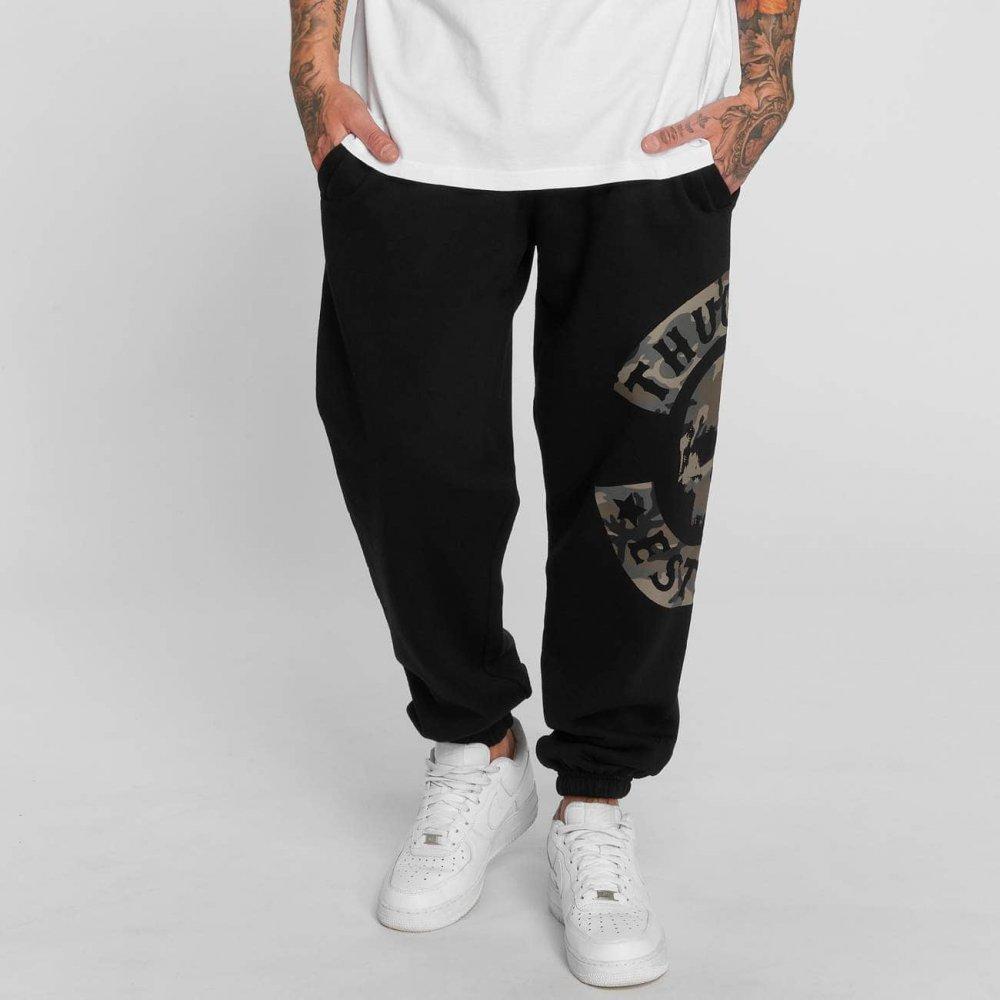 Thug Life / Sweat Pant B.Camo in black
