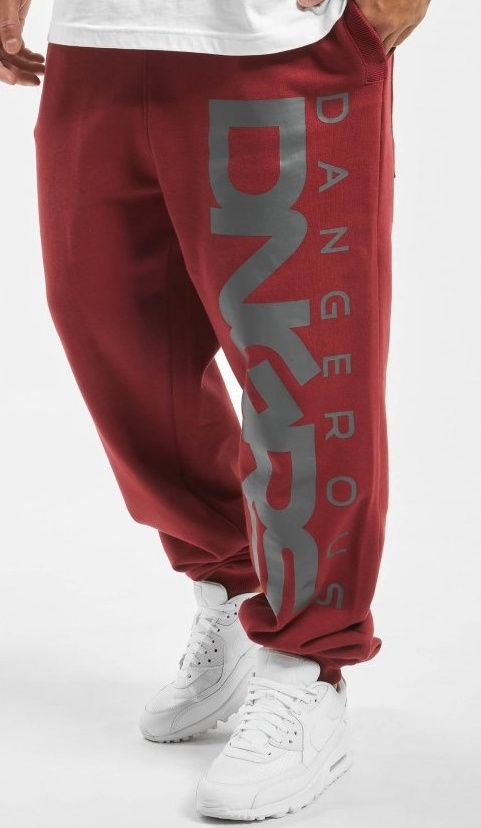Tepláky Dangerous DNGRS / Sweat Pant Classic in red