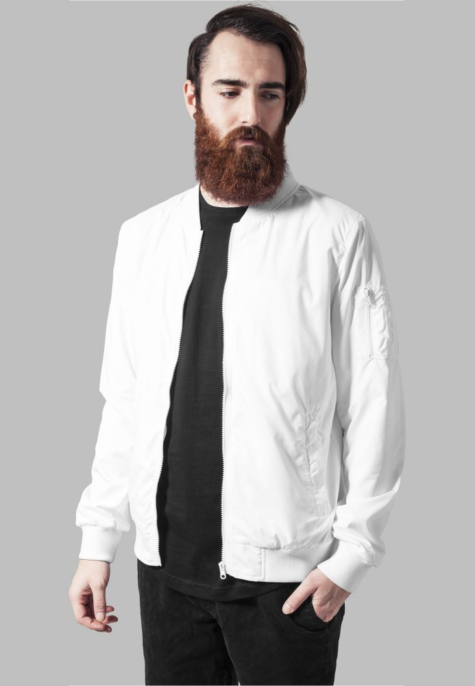 Light Bomber Jacket - white