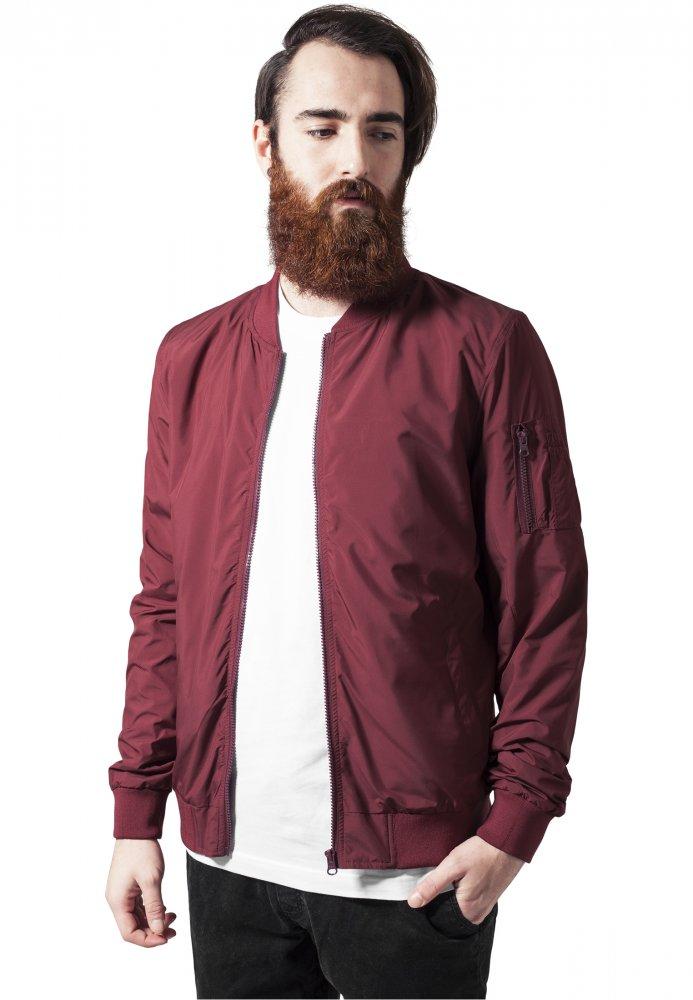 Light Bomber Jacket - burgundy