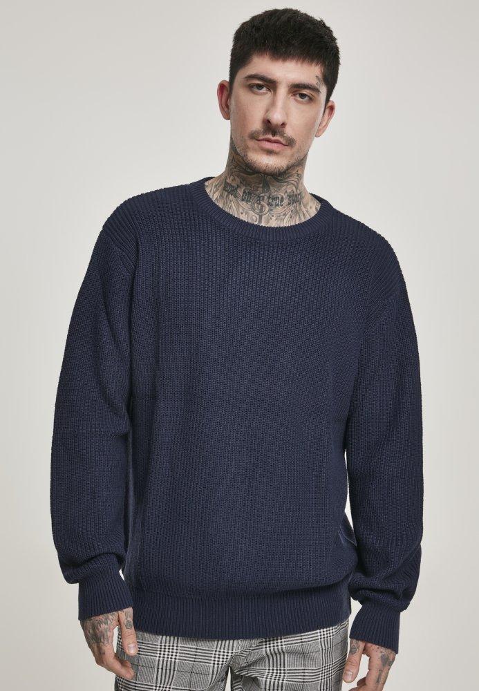 Cardigan Stitch Sweater - midnightnavy