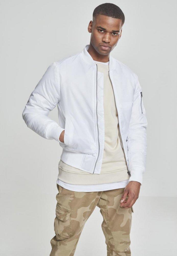 Basic Bomber Jacket - white