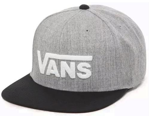 Kšiltovka Vans Drop V Snapback heather grey/black