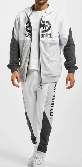 Tepláková souprava Ecko Unltd. Big Logo Sweatsuit grey melange white anthracite