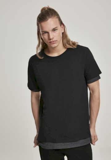 Full Double Layered Tee - black/charcoal