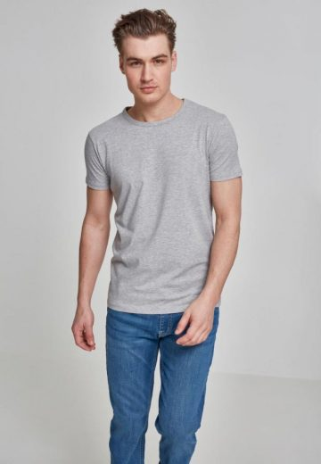 Fitted Stretch Tee - grey