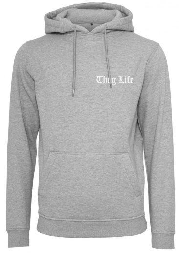 Thug Life Chest Logo Hoody grey