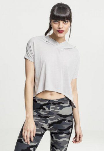 Ladies Short Viscose Hoody - grey