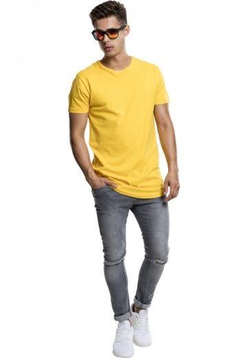 Shaped Long Tee - chrome yellow