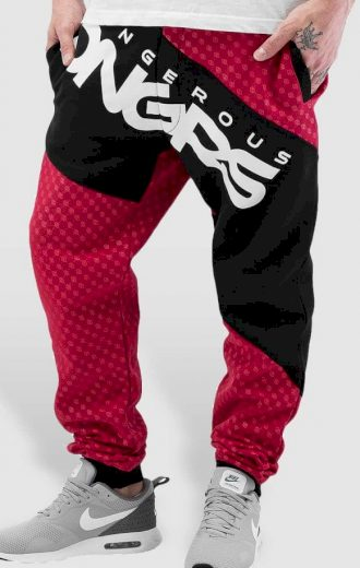 Tepláky Dangerous DNGRS / Sweat Pant Toco in red