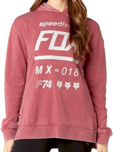 Mikina Fox Draftr dark red