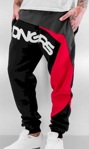 Tepláky Dangerous DNGRS / Sweat Pant Race City in black