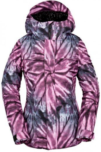 Bunda Volcom Bolt Ins tie-dye print purple