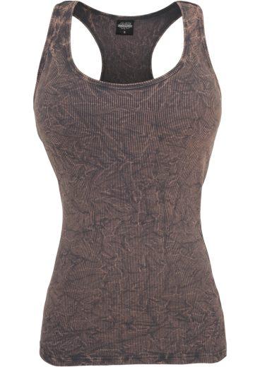 Ladies Crinkle Camo Tanktop - grey