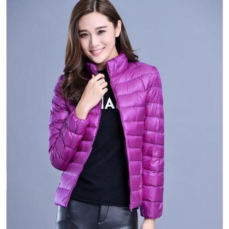 Dámská prošívaná podzimní fialová bunda