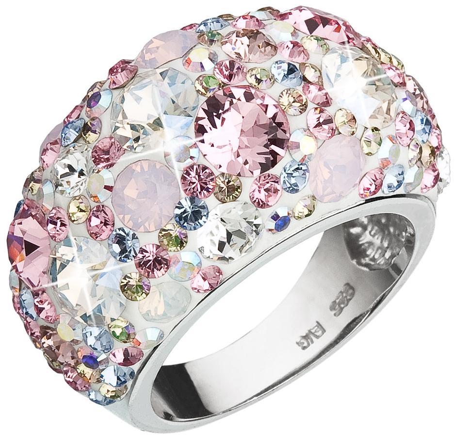 Prsten se Swarovski Elements polokulatý 35028.3 MAGIC ROSE