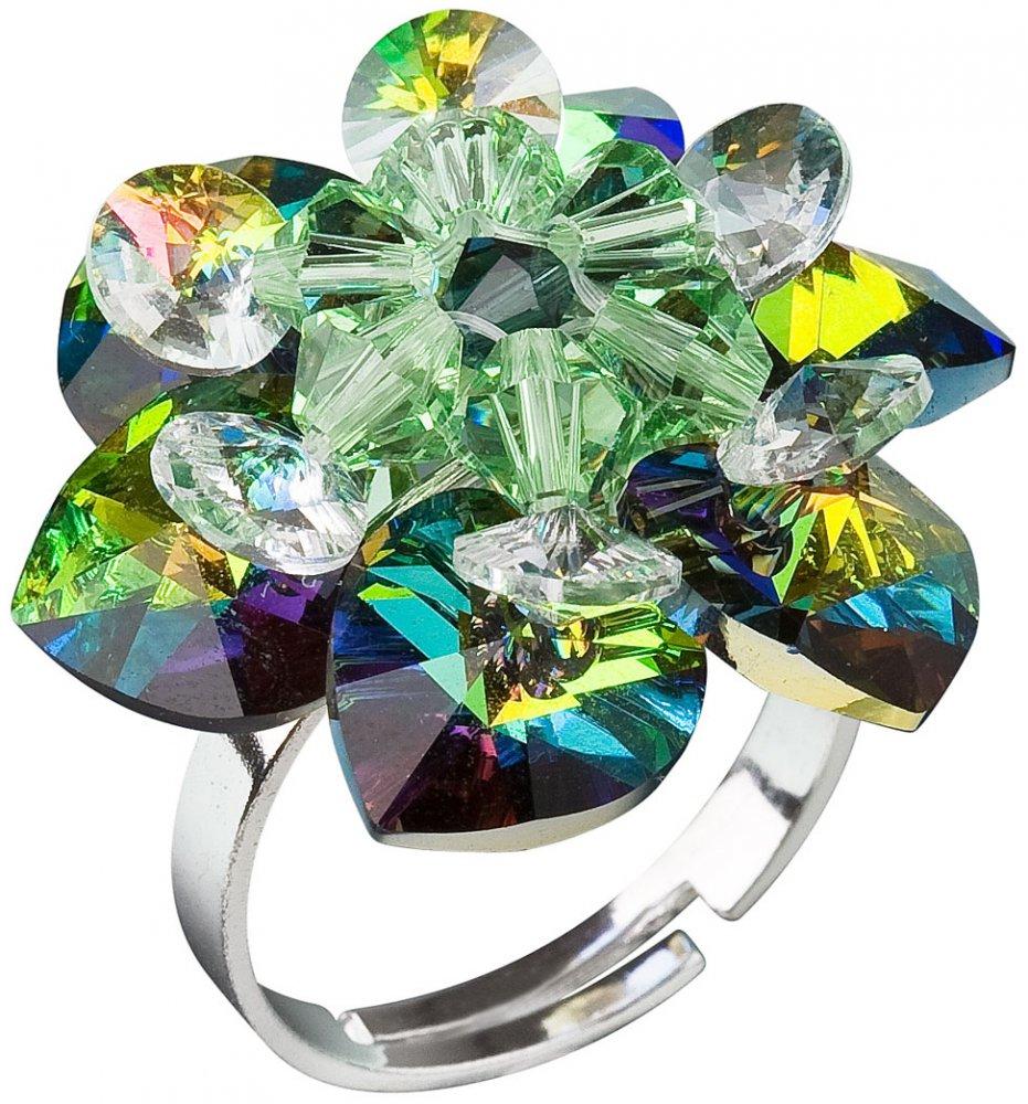 Prsten se Swarovski Elements leknín vitrail medium