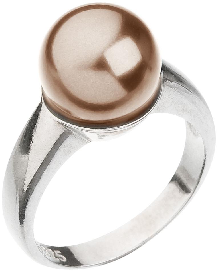 Prsten hnědá perla se Swarovski Elements 35022.3 Bronze 10 mm