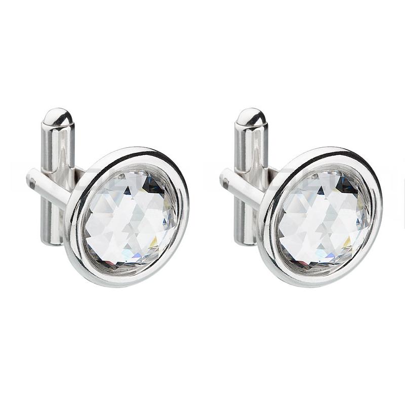 Manžetový knoflík se Swarovski Elements 38010.1 krystal