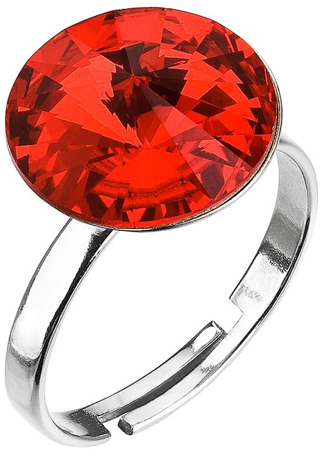 Prsten červený Rivoli se Swarovski Elements Light Siam 12 mm