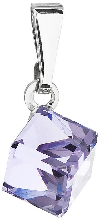 Přívesek se Swarovski Elements fialová kostička 54019.3 Violet 6 mm